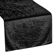 Premade Velvet Table Runner - Black