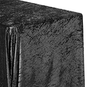 "Premade Velvet Tablecloth - 90"" x 132"" Rectangular - Black"