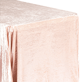 "Premade Velvet Tablecloth - 90"" x 132"" Rectangular - Blush/Rose Gold"