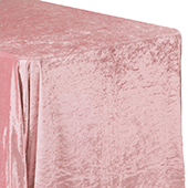 "Premade Velvet Tablecloth - 90"" x 132"" Rectangular - Dusty Rose/Mauve"