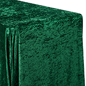 "Premade Velvet Tablecloth - 90"" x 132"" Rectangular - Emerald Green"