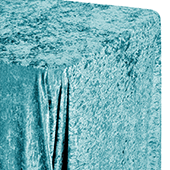 "Premade Velvet Tablecloth - 90"" x 132"" Rectangular - Peacock Teal"