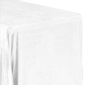 "Premade Velvet Tablecloth - 90"" x 132"" Rectangular - White"