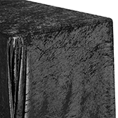 "Premade Velvet Tablecloth - 90"" x 156"" Rectangular - Black"