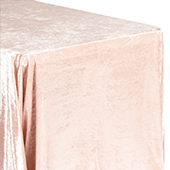 "Premade Velvet Tablecloth - 90"" x 156"" Rectangular - Blush/Rose Gold"
