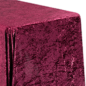 "Premade Velvet Tablecloth - 90"" x 156"" Rectangular - Burgundy"