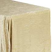 "Premade Velvet Tablecloth - 90"" x 156"" Rectangular - Champagne"