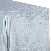 "Premade Velvet Tablecloth - 90"" x 156"" Rectangular - Dusty Blue"