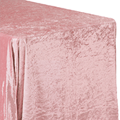 "Premade Velvet Tablecloth - 90"" x 156"" Rectangular - Dusty Rose/Mauve"