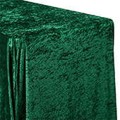 "Premade Velvet Tablecloth - 90"" x 156"" Rectangular - Emerald Green"