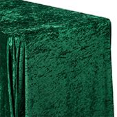 "Premade Velvet Tablecloth - 90"" x 156"" Rectangular - Emerald Green"