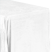 "Premade Velvet Tablecloth - 90"" x 156"" Rectangular - White"