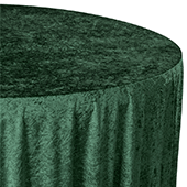 "Premade Velvet Tablecloth - 120"" Round - Emerald Green"