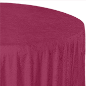 "Premade Velvet Tablecloth - 120"" Round - Mulberry"
