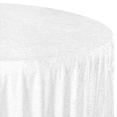 "Premade Velvet Tablecloth - 120"" Round - White"