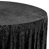 "Premade Velvet Tablecloth - 120"" Round - Black"