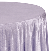 "Premade Velvet Tablecloth - 120"" Round - Wisteria"