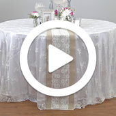 Round Tablecloth over Tablecloth - Instructional Video