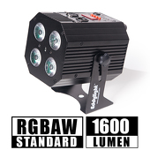 Cube Light - RGBW, High Powered, Rechargeable Battery LED Light! - Black