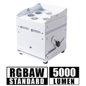 Super Cube Light - RGBAW, High Powered, Rechargeable Battery, Wireless DMX LED Light! - White