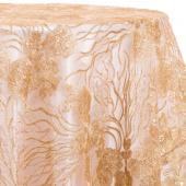 Rose Gold - Blooming Sequin Overlay by Eastern Mills - Many Size Options