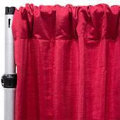 Royal Slub Drape Panel - 100% Polyester - Rouge