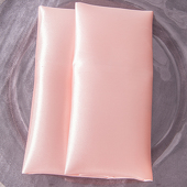 "Blush - Deco Satin Napkin - 17"" x 17"" - 10 PACK"