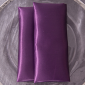 "Dark Purple - Deco Satin Napkin - 17"" x 17"" - 10 PACK"