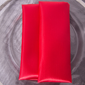 "Red - Deco Satin Napkin - 17"" x 17"" - 10 PACK"
