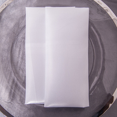 "White - Deco Satin Napkin - 17"" x 17"" - 10 PACK"