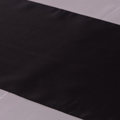 Black Deco Satin Table Runner - 12