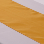 "Gold Deco Satin Table Runner - 12"" x 108"" - 10 PACK"