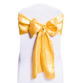 DecoStar™ Gold Deco Satin Chair Sash - 8