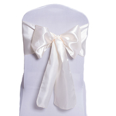 DecoStar™ Ivory Deco Satin Chair Sash - 8