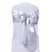DecoStar™ Silver Deco Satin Chair Sash - 8