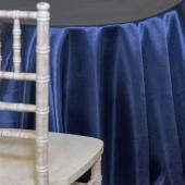 NAVY BLUE -  DECO Satin Tablecloth by Eastern Mills - Size Options