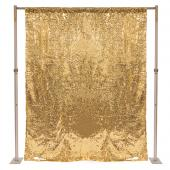 Gold Sequin Backdrop Curtain w/ 4