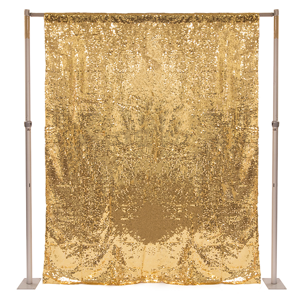 Gold Sequin Backdrop Curtain W 4 Rod Pocket