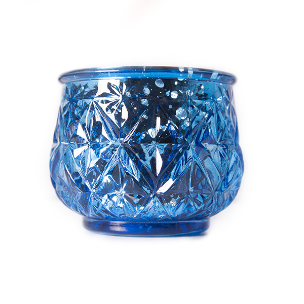Blue Mercury Glass Candle Holders In Bulk Event Direct Décor