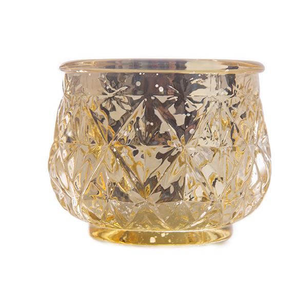 Gold mercury glass votives bulk mercury glass votives for Decor direct