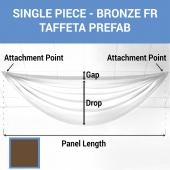 Single Piece - Bronze Taffeta Prefabricated Ceiling Drape Panel - Choose Length and Drop!