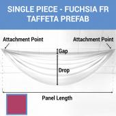 Single Piece - Fuchsia Taffeta Prefabricated Ceiling Drape Panel - Choose Length and Drop!