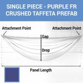Single Piece - Purple Crushed Taffeta Prefabricated Ceiling Drape Panel - Choose Length and Drop!