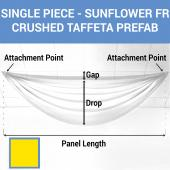 Single Piece - Sun Flower Crushed Taffeta Prefabricated Ceiling Drape Panel - Choose Length and Drop!