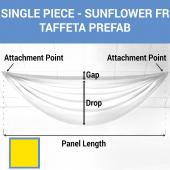 Single Piece - Sun Flower Taffeta Prefabricated Ceiling Drape Panel - Choose Length and Drop!