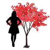 7FT Bougainvillea Tree - Floor or Centerpiece - 11 Interchangeable Branches - Fuchsia