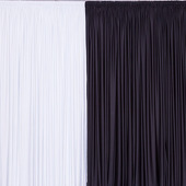 OFF WHITE - 20ft Spandex Party Drape by Eastern Mills - 200GSM - 10ft Extra Wide!