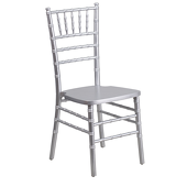 EnvyChair™ Elegant Wood Chiavari Chair - Silver
