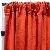 Royal Slub Drape Panel - 100% Polyester - Saffron