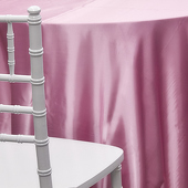 PINK - Deco Satin Tablecloth by Eastern Mills - Size Options